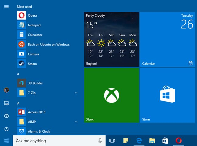 configure start menu in windows 10 (1)