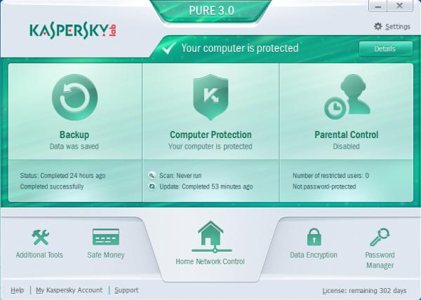 remove Kaspersky PURE