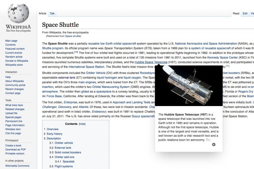 Wikipedia Page Previews